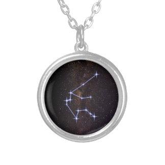 Verseau de signe d'étoile pendentif rond