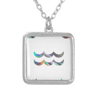 Verseau d'hologramme pendentif carré