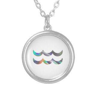 Verseau d'hologramme pendentif rond