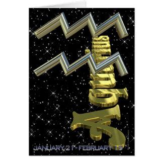 Verseau - du 21 janvier au 19 février carte de vœux
