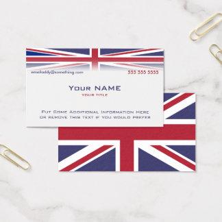 Version 2 d'Union Jack Cartes De Visite