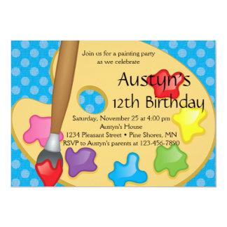 Version de bleu de │ d'invitations d'anniversaire carton d'invitation  12,7 cm x 17,78 cm