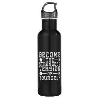 Version devenue de The Strongest de vous-même - Bouteille D'eau En Acier Inoxydable