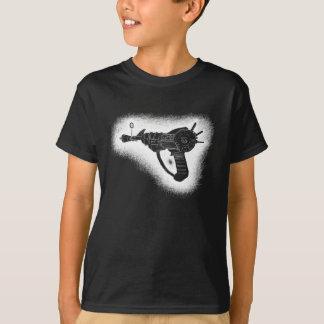 version peu précise de blanc d'arme à feu de rayon t-shirt