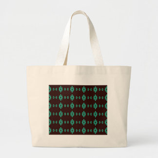 Vert au néon moderne sur le motif noir grand tote bag