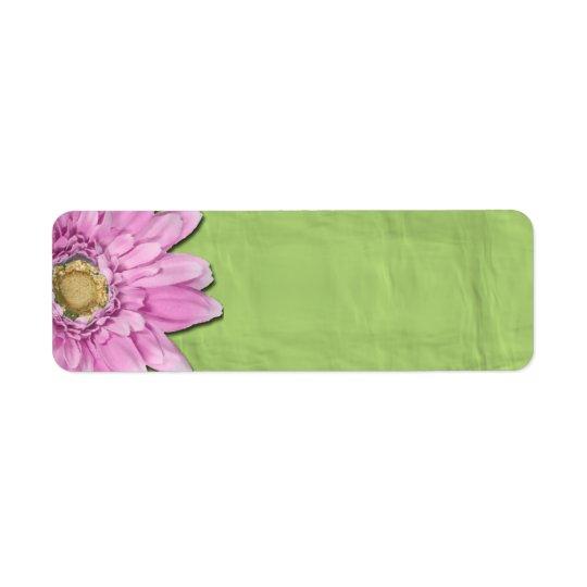 Vert avec les étiquettes roses de blanc de marguer