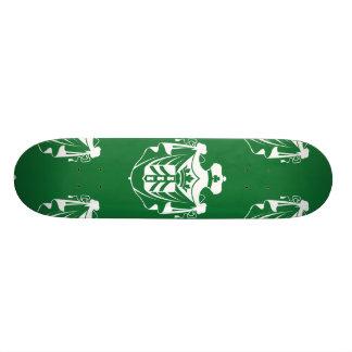 Vert blanc de crête de famille plateaux de planche à roulettes