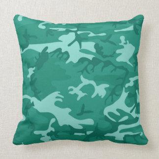 Vert bleu Camo Oreiller