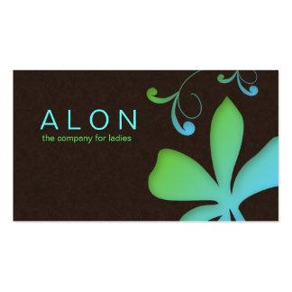 Vert bleu de fleur de carte de visite de maquilleu