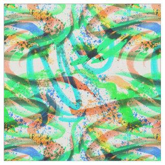 Vert bleu de traçage de tissu d'éclaboussure au