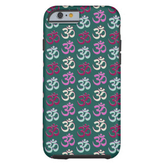 Vert bleu et rose de motif de symbole d'Oom de Coque iPhone 6 Tough