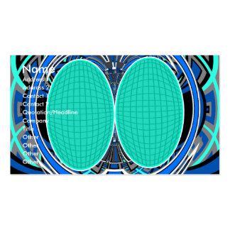 Vert bleu superfly carte de visite standard