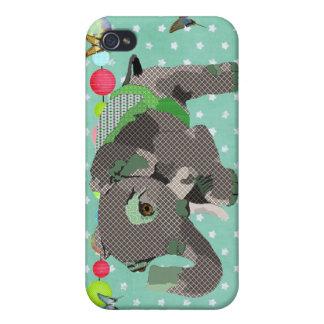 Vert chanceux i d'éléphant de Lil Coques iPhone 4