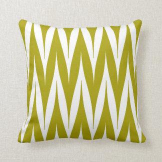 Vert Chartreuse de zigzag de motif tribal de Oreillers