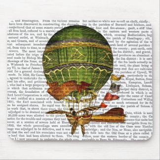 Vert chaud de ballon à air tapis de souris