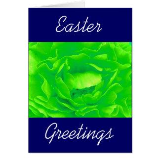 Vert clair s'est levé - personnalisable carte de vœux