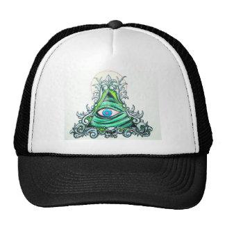 Vert clair tout l'oeil voyant casquettes de camionneur