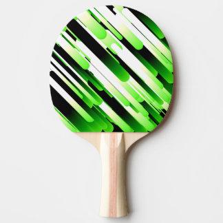 Vert contrasté raquette de ping pong