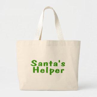 Vert d'aide de Santa Grand Sac