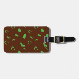 Vert d'Amazonie avec la texture brune de Étiquette À Bagage
