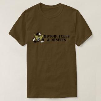 Vert d'armée de motos et de vêtements manqués t-shirt