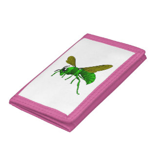 Vert de bande dessinée et abeille de guêpe de