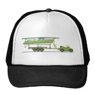 Vert de bateau à voile de voiture d'Eco Casquette Trucker
