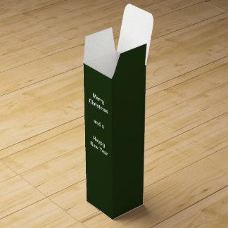 Vert de boîte-cadeau de vin boite pour bouteille de vin