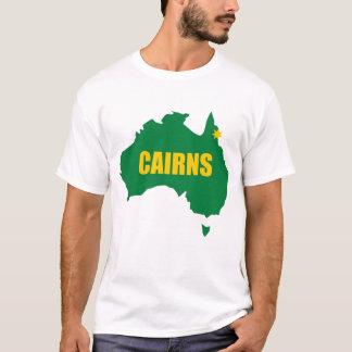 Vert de cairns et T-shirt de carte d'or