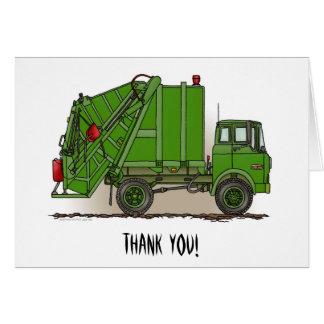 Vert de camion à ordures cartes