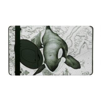 Vert de carte d'orque étui iPad