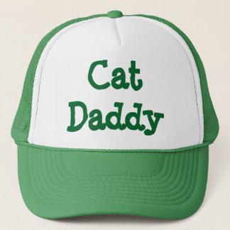 Vert de casquette de camionneur de papa de chat