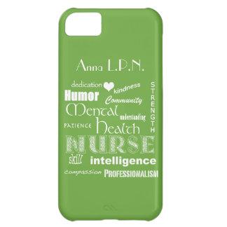Vert de /Celery d'Infirmière-Attributs de santé Coque iPhone 5C