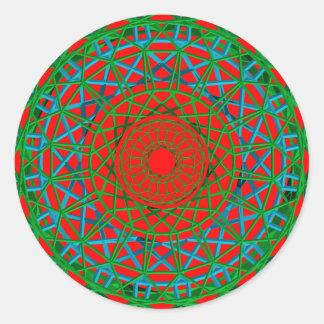 Vert de Chakra, rouge, autocollant bleu