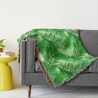 Vert de chaux en feuille de palmier d'impression, couvre pied de lit