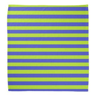 Vert de chaux et rayures bleues bandana