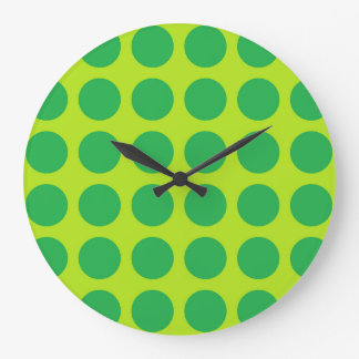 Vert de chaux vert de pois grande horloge ronde