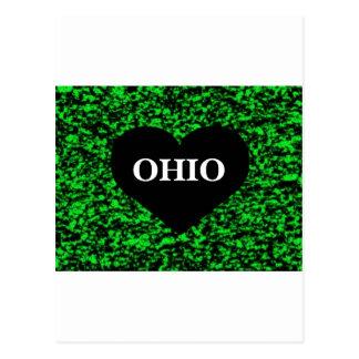 Vert de coeur de l'Ohio Carte Postale