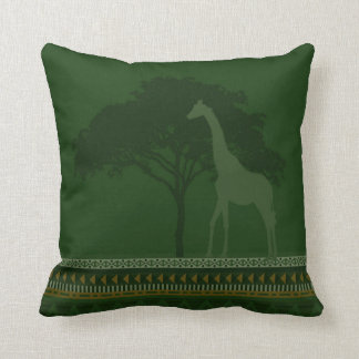vert de coussin de girafe