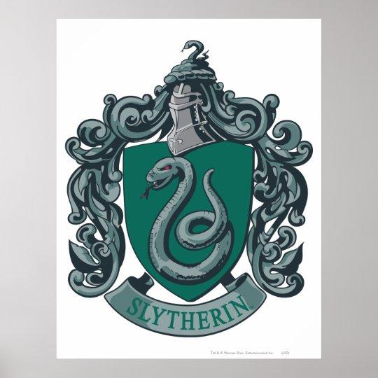Vert de crête de Harry Potter   Slytherin Poster