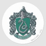 Vert de crête de Harry Potter   Slytherin Sticker Rond