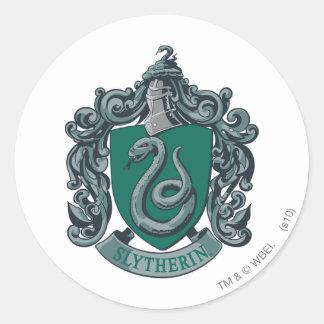 Vert de crête de Harry Potter | Slytherin Sticker Rond