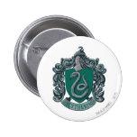 Vert de crête de Slytherin Badge Rond 5 Cm
