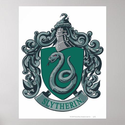 Vert de crête de Slytherin Posters