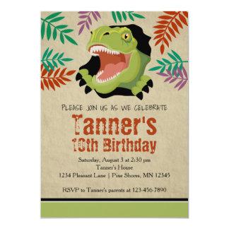 Vert de │ d'invitations d'anniversaire de carton d'invitation  12,7 cm x 17,78 cm