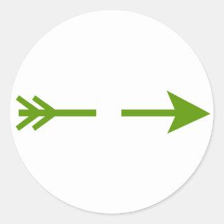Vert de flèche cassé les cadeaux de Zazzle de Sticker Rond