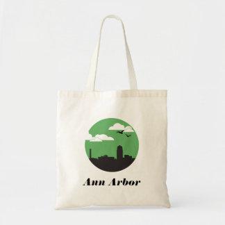 Vert de fourre-tout | d'horizon de ville d'Ann Sacs De Toile