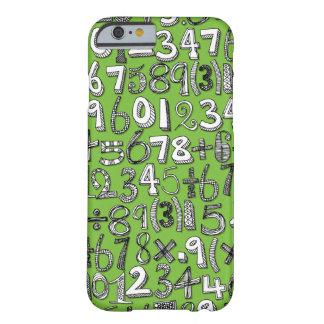 vert de griffonnage de maths coque iPhone 6 barely there