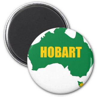 Vert de Hobart et aimant de réfrigérateur de carte