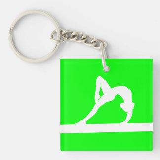 Vert de Keychain w Name de gymnaste